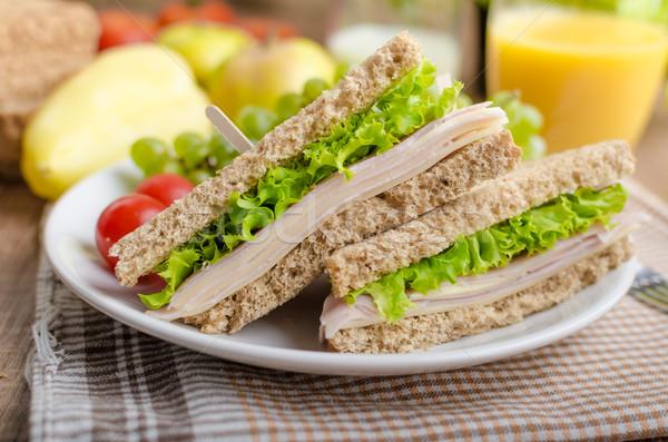 Back to school sandwich Stock photo © Peteer
