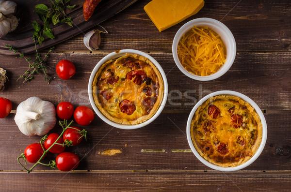 Mini salsicha queijo cheddar queijo saboroso delicioso Foto stock © Peteer