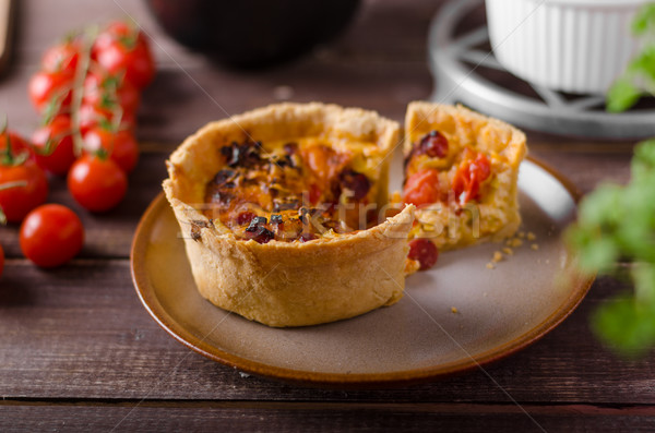 Mini quiche wih sausages Stock photo © Peteer