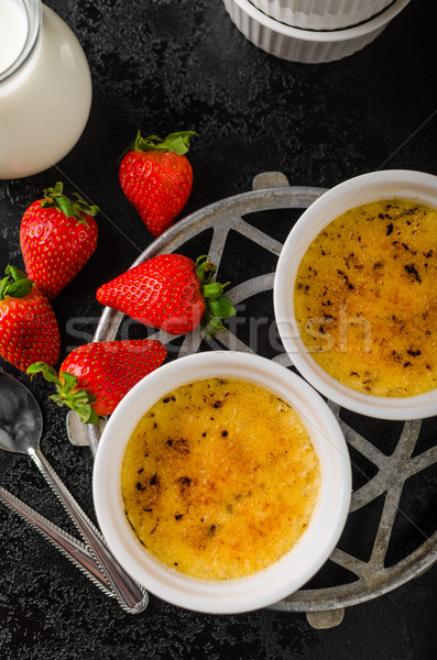 Delicious Creme brulee Stock photo © Peteer