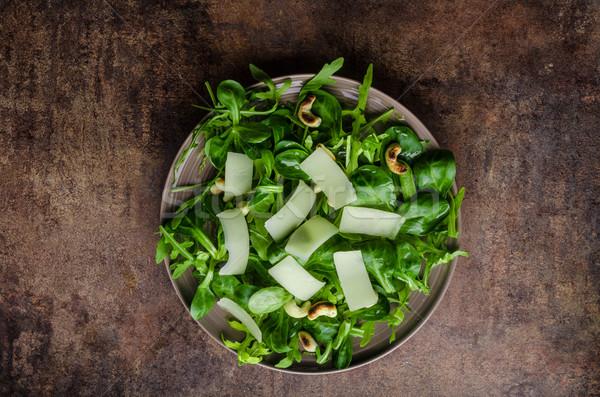 Taze salata biyo kuzu marul Stok fotoğraf © Peteer
