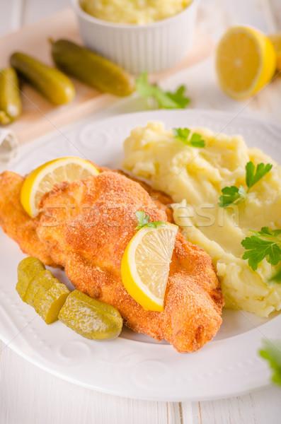 свежие оригинальный картофель лимоны травы Top Сток-фото © Peteer