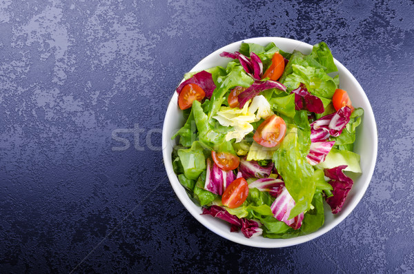 Fresh mixed salad with endive and cherry Stock photo © Peteer
