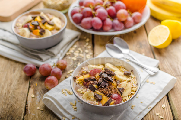 Homemade granola with fruit and chocolate Stock photo © Peteer
