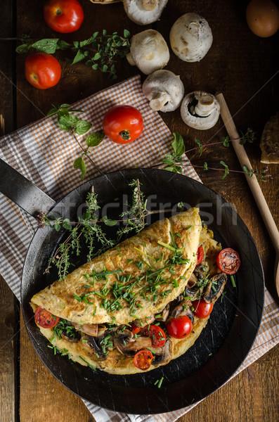 Rustic omelette Stock photo © Peteer