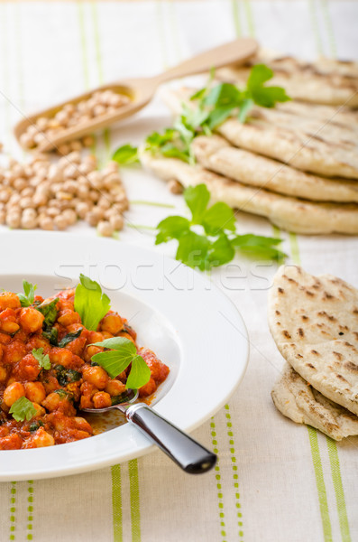 Spinach chickpea curry Stock photo © Peteer