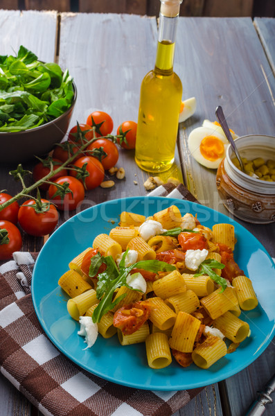 Rigatoni pasta with mozzarella and tomato Stock photo © Peteer