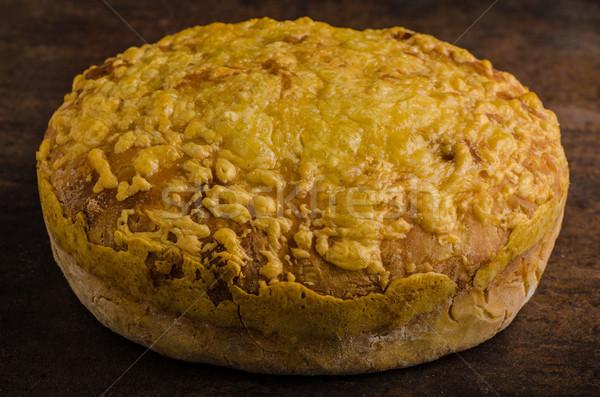 Sajt kenyér sütő egyszerű vacsora klasszikus Stock fotó © Peteer