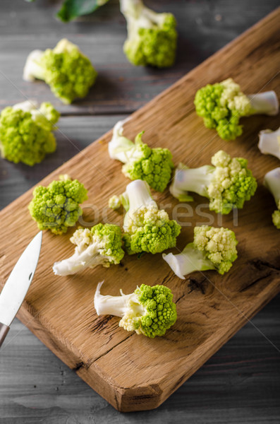 Foto d'archivio: Verde · cavolfiore · bio · vegetali · pronto · cottura