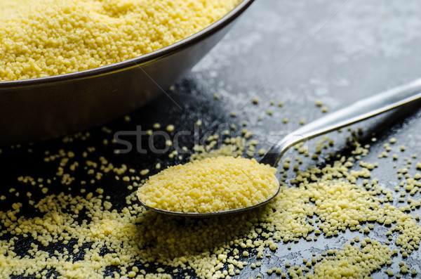 Stock photo: Couscous raw on table