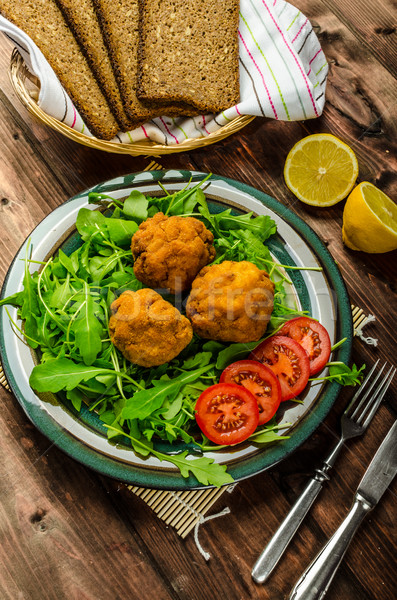 Macaroni and cheese balls Stock photo © Peteer