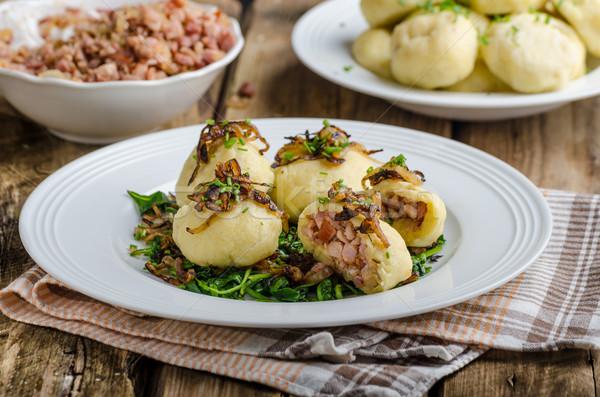 Aardappel gevuld gerookt vlees tsjechisch origineel Stockfoto © Peteer