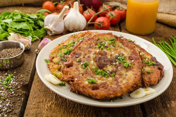 Fried potato pancakes Stock photo © Peteer