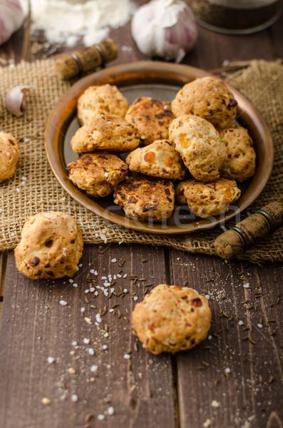 Stock photo: Crackers homemade