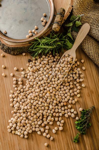 Crudo saludable simple delicioso utilizado Foto stock © Peteer