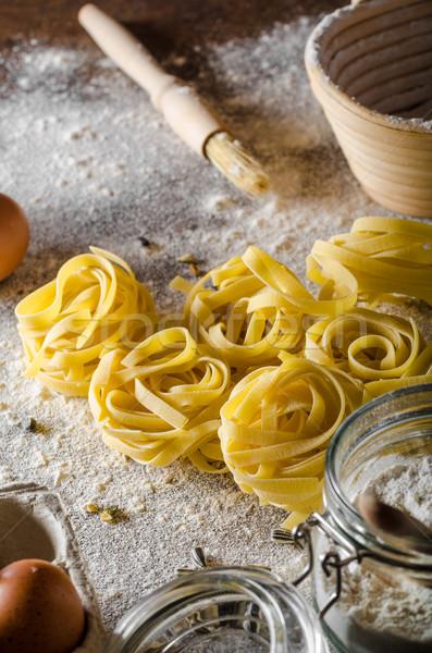 Homemade pasta bio Stock photo © Peteer