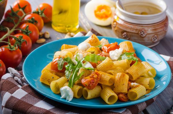 Pasta mozzarella tomaat vers kruiden top Stockfoto © Peteer