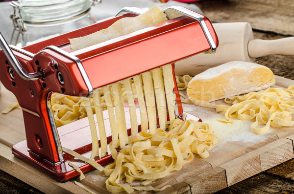 Production of homemade pasta - Italian pasta grinder Stock photo © Peteer