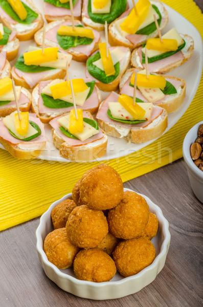 新しい 年 食事 お祝い ハム チーズ ストックフォト © Peteer