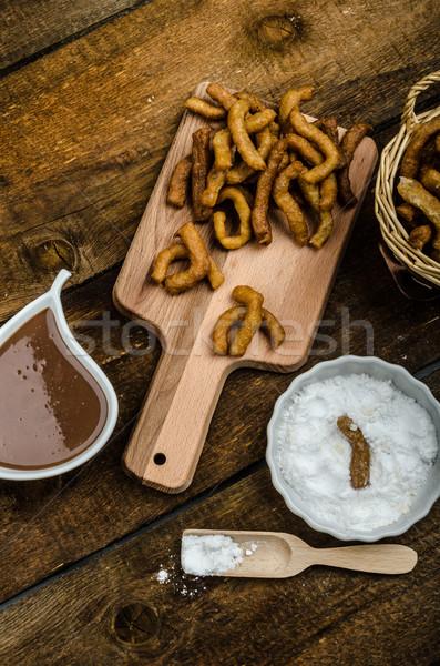 Csokoládé mártás étel mély sült finom Stock fotó © Peteer