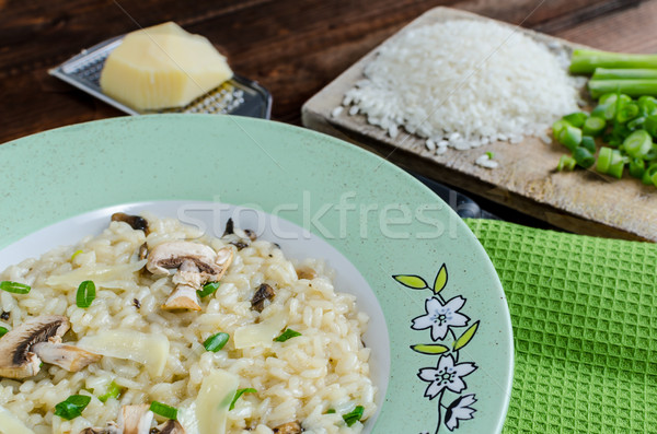 Italien risotto with mushrooms Stock photo © Peteer
