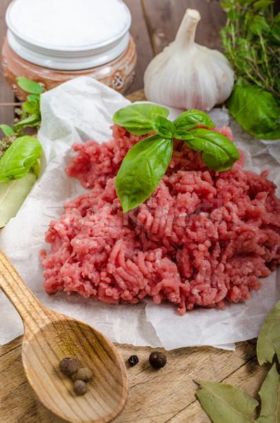 Minced beef raw Stock photo © Peteer