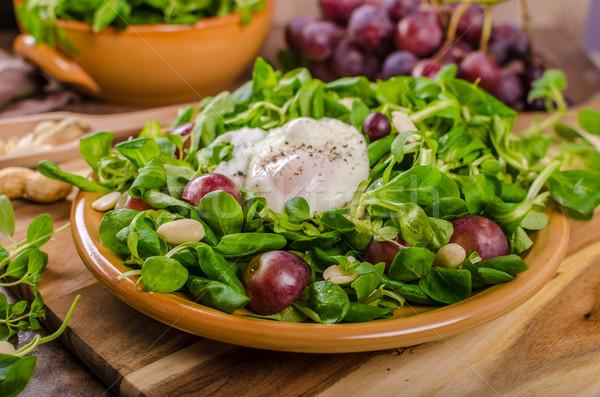ягненка салата Салат яйцо орехи виноград Сток-фото © Peteer