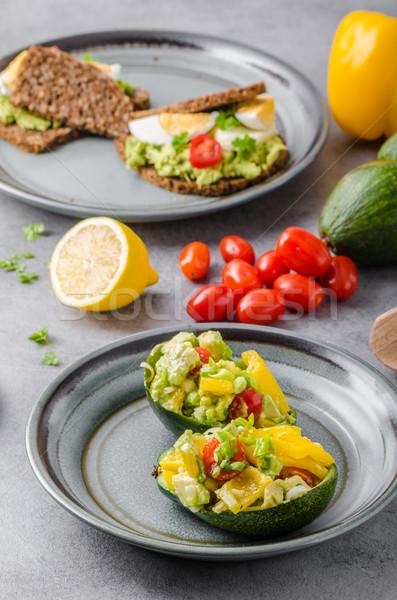 фаршированный авокадо растительное bio здорового рецепт Сток-фото © Peteer