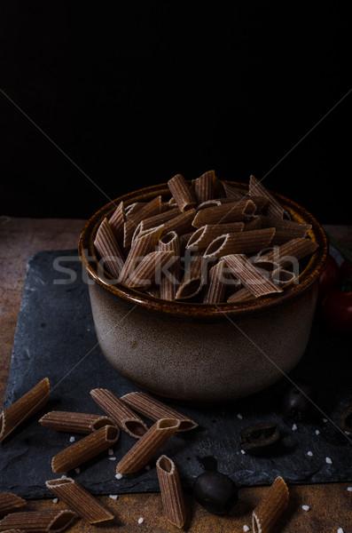 全体 穀物 パスタ チーズ トマト バジル ストックフォト © Peteer