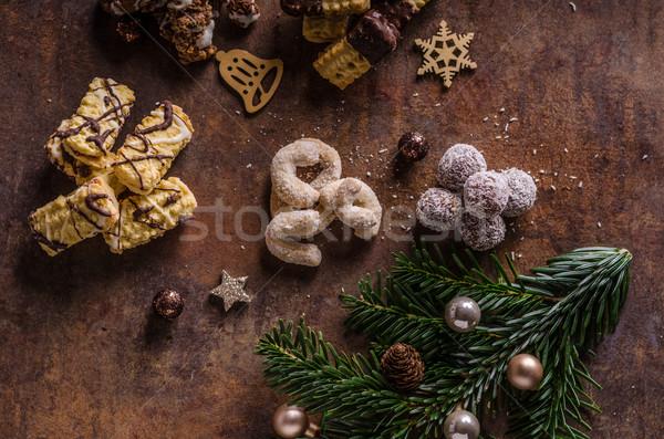 Cookies snoep meer heerlijk liefde voedsel Stockfoto © Peteer