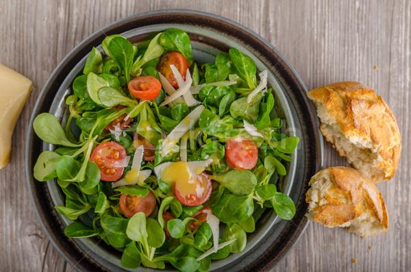 Lamb lettuce salad with dijon dressing Stock photo © Peteer