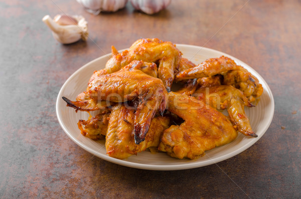 Grilled chicken wings  Stock photo © Peteer