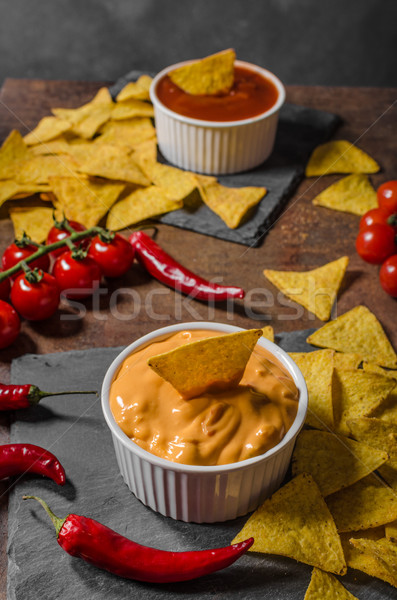 Tortilla chips dos chile caliente queso Foto stock © Peteer