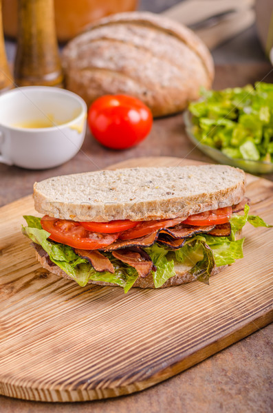 BLT sandwich with lettuce Stock photo © Peteer
