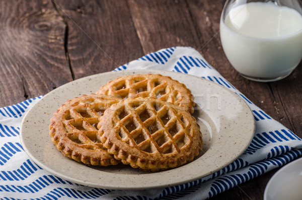Cookies with apple filling, delish homemade Stock photo © Peteer