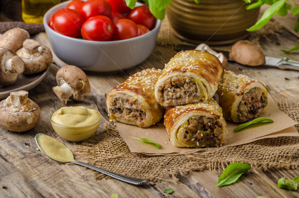 Sausage Roll delicious recepy Stock photo © Peteer