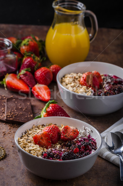 Granola with berries and chocolate Stock photo © Peteer
