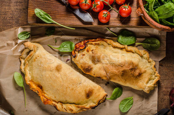 Calzone pizza rustic Stock photo © Peteer