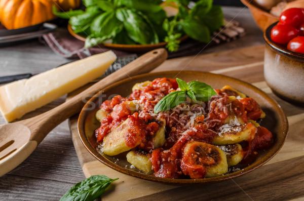 Pomidorów zioła zielone ser Zdjęcia stock © Peteer