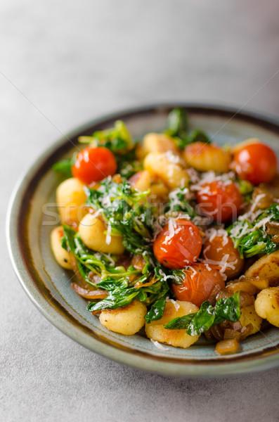 Сток-фото: шпинат · чеснока · помидоров · фото · реклама · продовольствие