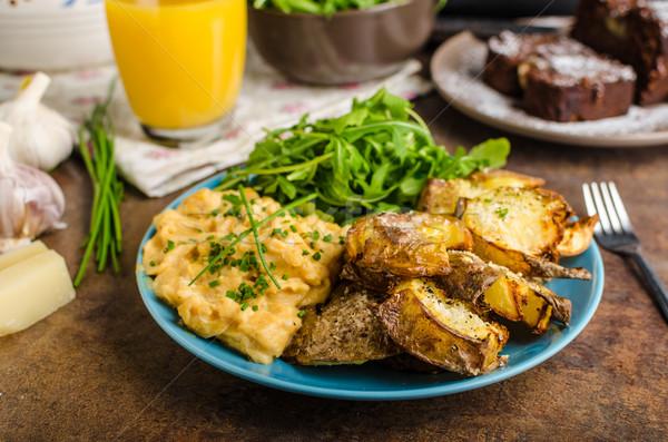 Crispy Smashed Potatoes Stock photo © Peteer