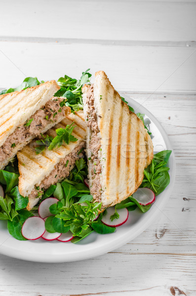 Stock photo: Tuna salad sandwitch