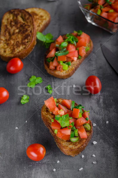 Francés ajo brindis vegetales ensalada alimentos Foto stock © Peteer