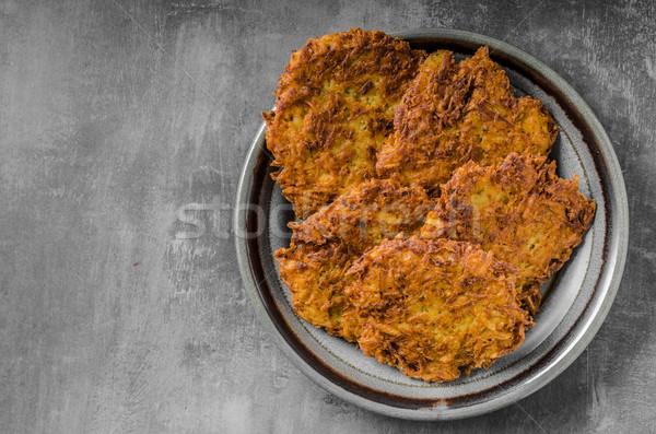 ジャガイモ パンケーキ ニンニク 単純な 高速 ストックフォト © Peteer
