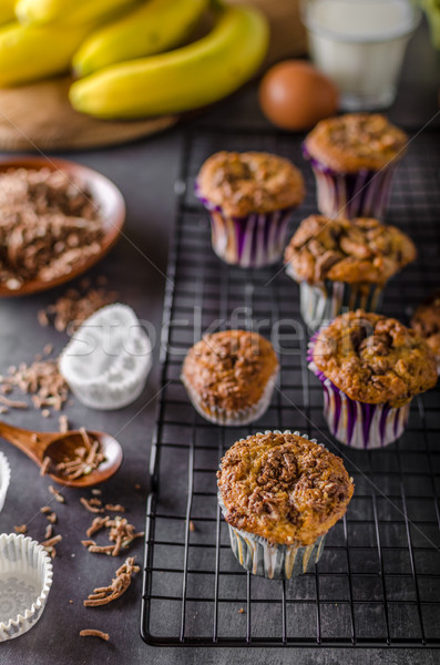 Banana wholegrain muffins Stock photo © Peteer