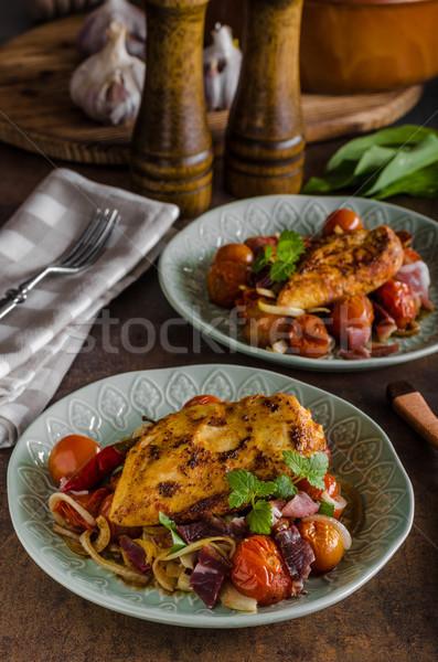 курица-гриль стейк растительное продовольствие фон Сток-фото © Peteer