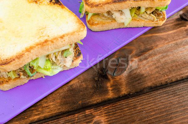 Pollo sándwich apio mostaza pollo a la parrilla ensalada Foto stock © Peteer