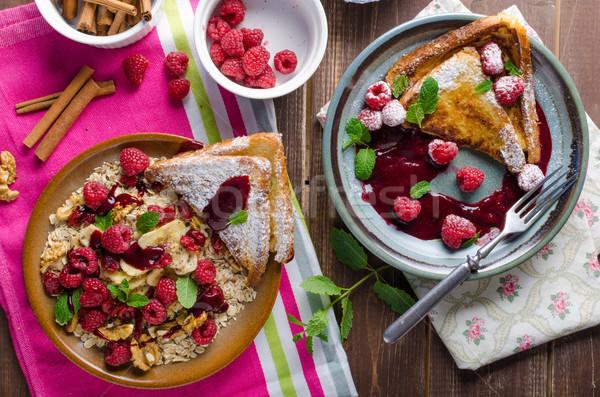 フランス語 トースト 液果類 ミント シナモン 食品 ストックフォト © Peteer