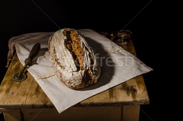 Maison pain rustique chef mains alimentaire Photo stock © Peteer