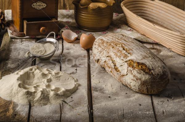 Сток-фото: домашний · деревенский · хлеб · печи · пшеницы